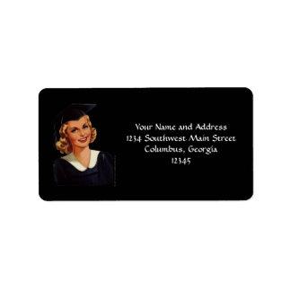 Vintage Blonde College Graduate Address Label
