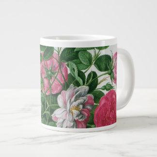 Vintage Blooming Flowers, Spring Garden Roses Large Coffee Mug