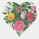 Vintage Blooming Flowers, Spring Garden Roses Sticker
