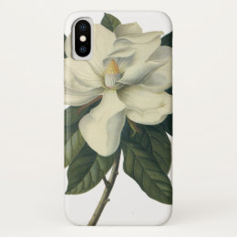Vintage Blooming White Magnolia Blossom Flowers iPhone X Case