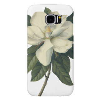 Vintage Blooming White Magnolia Blossom Flowers Samsung Galaxy S6 Case