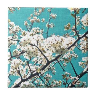 Vintage Blossom Item Ceramic Tile