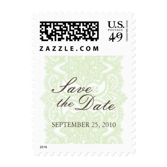 Vintage Blossom Lace Save The Date Postage