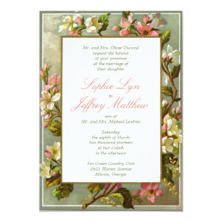 Vintage Blossoms Invitation