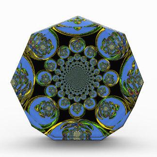 Vintage Blue Acrylic Award