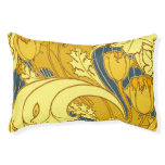 Vintage Blue and Gold Floral Pattern Art Pet Bed