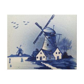 Vintage Blue and White Delft Canvas Print