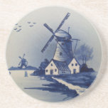 Vintage Blue and White Delft Coasters