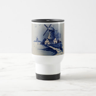Vintage Blue and White Delft 15 Oz Stainless Steel Travel Mug