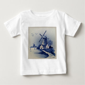 Vintage Blue and White Delft T Shirt