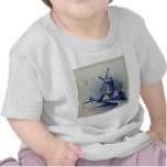 Vintage Blue and White Delft Tee Shirt
