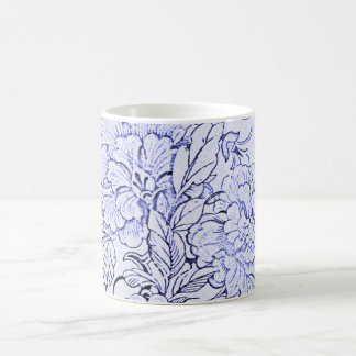 Vintage Blue and White Floral Coffee Mug