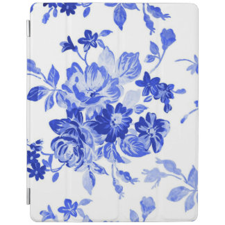 Vintage Blue and White Floral Pattern iPad Smart Cover