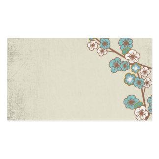 Vintage blue and white sakuras Business Card