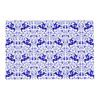 Vintage Blue and White Swirl Placemat