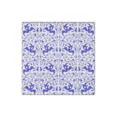 Vintage Blue And White Swirl Stone Magnet at Zazzle
