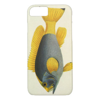 Vintage Blue and Yellow Grouper Fish, Marine Life iPhone 7 Case