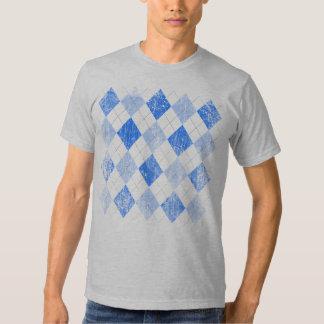 Vintage Blue Argyle Tee Shirt