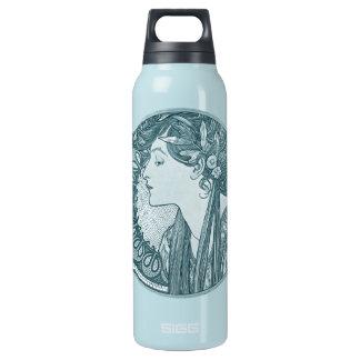 Vintage Blue Art Nouveau Insulated Water Bottle