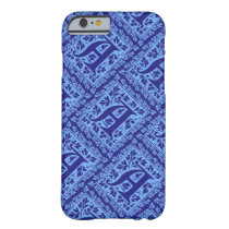 Vintage Blue Arts and Crafts Monogram A Barely There iPhone 6 Case
