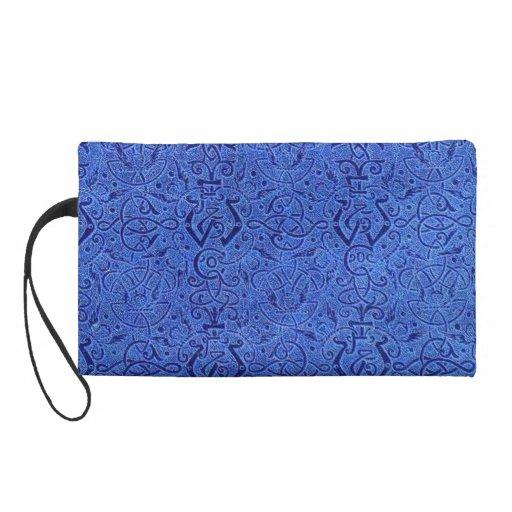 Vintage Blue Bagettes Bag Wristlet Purses