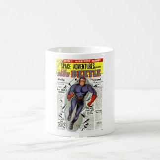 Vintage Blue Beetle Comic Book Superhero Coffee Mug