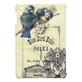 Vintage Blue Bird Birdcage Collage iPad Mini Case