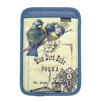 Vintage Blue Bird Birdcage Collage Sleeve For iPad Mini