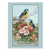 Vintage Blue Bird Easter Postcard