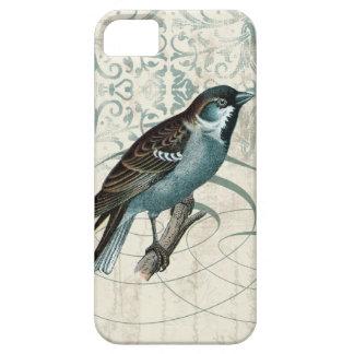Vintage Blue Bird Songbird Song damask swirls iPhone SE/5/5s Case