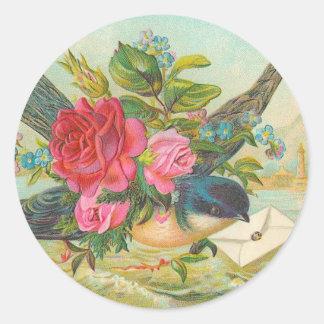 Vintage Blue Bird Stickers