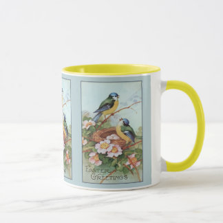 Vintage Blue Birds Easter Mug