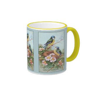 Vintage Blue Birds Easter Mug