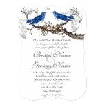 Vintage Blue Birds Wedding Invitations