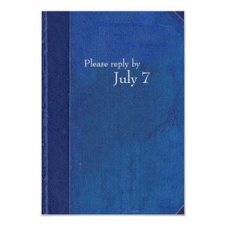 Vintage Blue Book Evening Reception 3.5x5 Paper Invitation Card