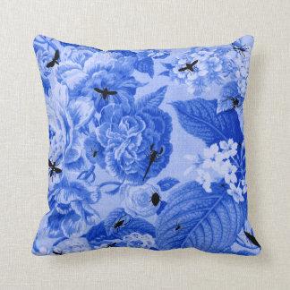 Blue Toile Pillows - Decorative & Throw Pillows Zazzle