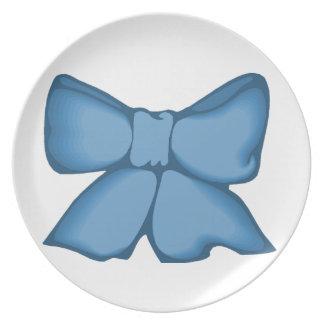 Vintage Blue Bow Plate