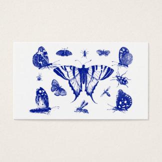 Vintage Blue Butterflies Business Card