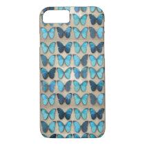 Vintage Blue Butterflies iPhone 7 Case