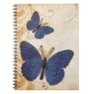 Vintage Blue Butterfly Notebook