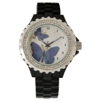 Vintage Blue Butterfly Wristwatches