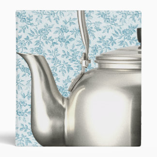 Vintage Blue Calico Kettle Personalized Recipe Binder