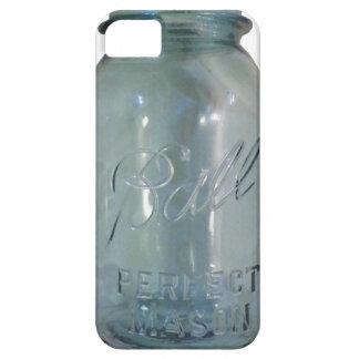 Vintage Blue Canning Jar iPhone 5 Case
