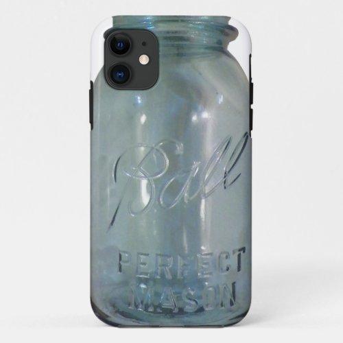 Vintage Blue Canning Jar Phone Case