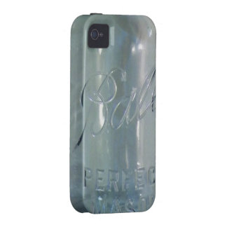 Vintage Blue Canning Jar iPhone 4 Covers
