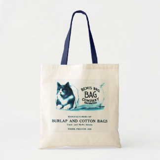 Vintage Blue Cat in Bag