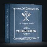 """Vintage Blue Chalkboard Family Cookbook Binder<br><div class=""""desc"""">A fun,  vintage chalkboard look for this personalized family cookbook binder.</div>"""