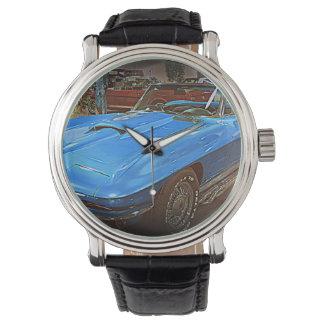 Vintage Blue Corvette Wrist Watch