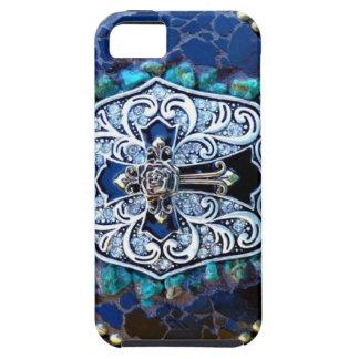 Vintage Blue Cross iPhone SE/5/5s Case