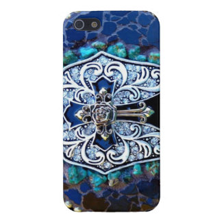 Vintage Blue Cross iPhone SE/5/5s Cover